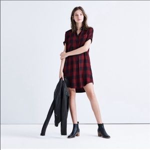 Madewell Courier Button-Up Shirt Dress